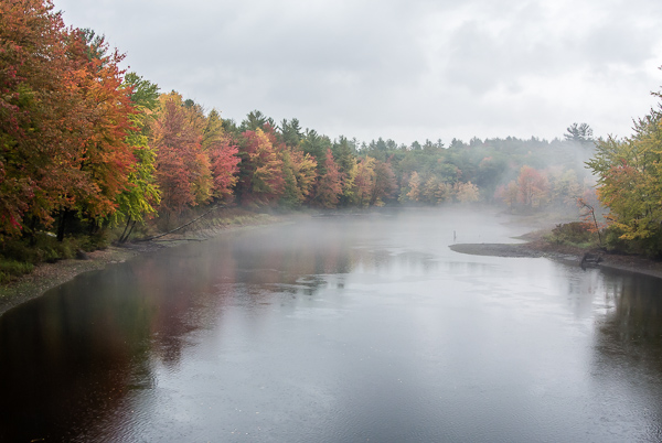 Contoocook River Bend in Autumn