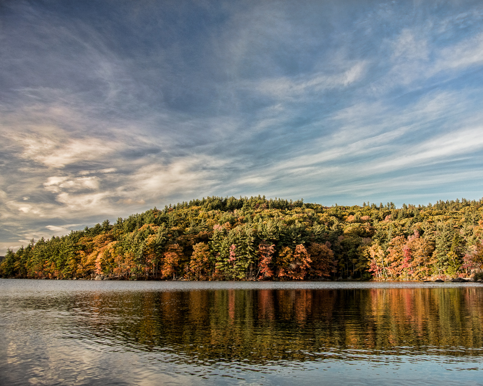 Patten Hill in Autumn (view from Gregg Lake)