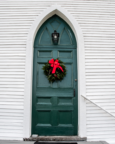 Door with Wreath #2