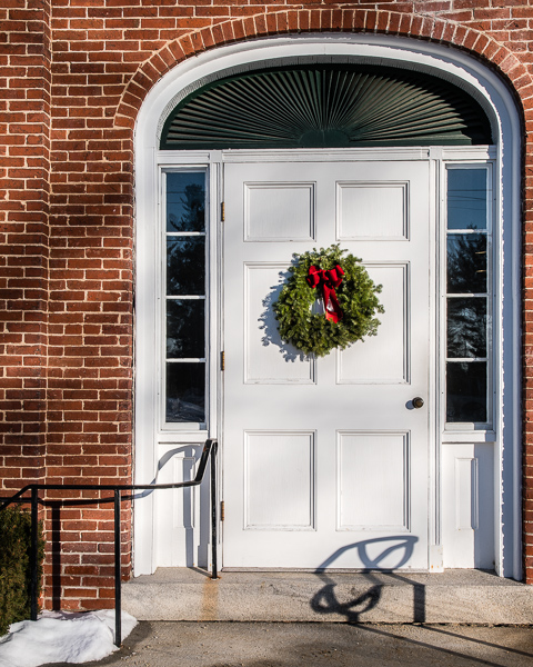 Door with Wreath #6