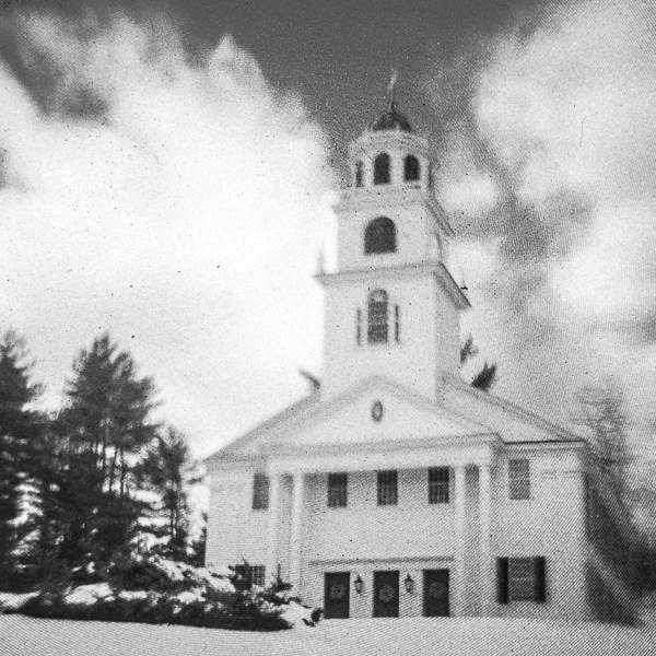 Park Hill Meetinghouse (Westmoreland, NH) #4 (made with camera obscura)