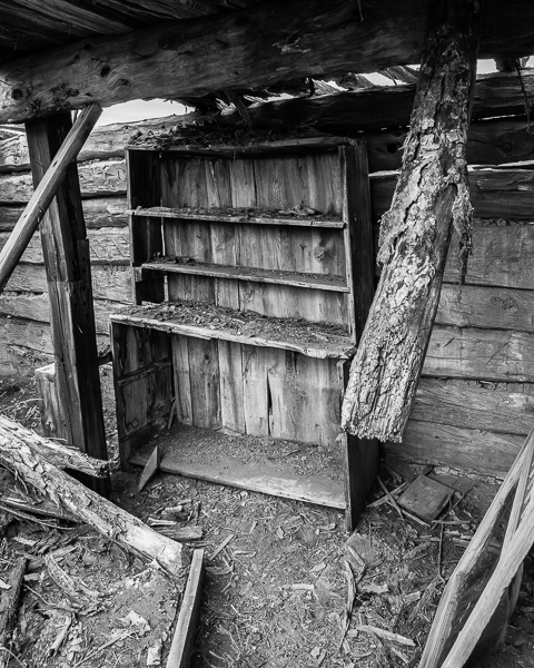 Old Log Cabin Interior