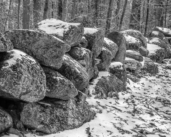 Stone Wall in Snow (22 April)
