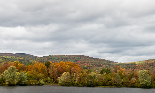 Fall Foliage, Looking West Across the Conn. River at Monroe, NH