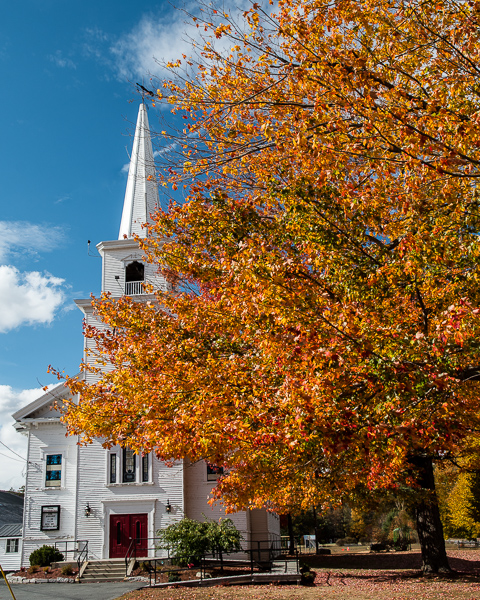 Church with Fall Foliage (Warren, NH)