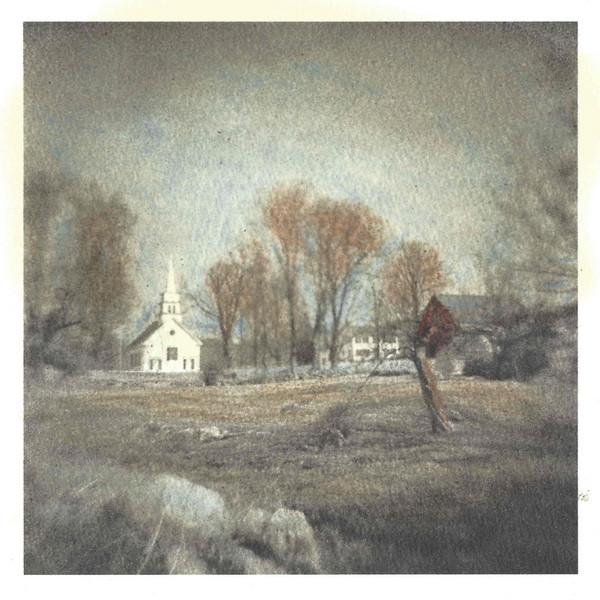 Hillsborough Center, NH (hand-colored inkjet print)