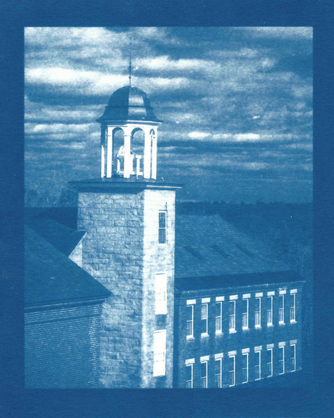 Mill Building, Harrisville, NH (cyanotype)