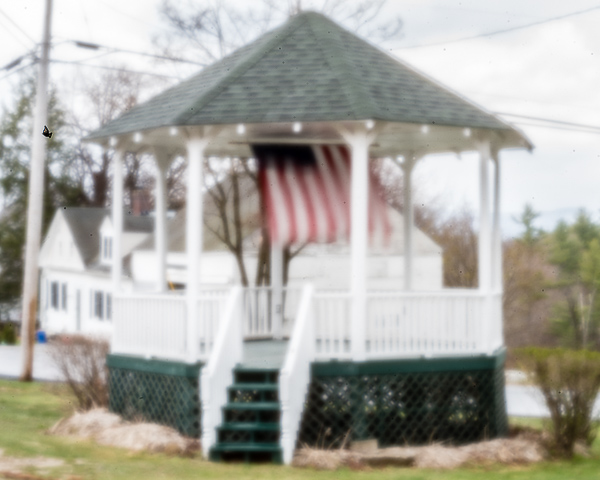 Gazebo with Flag, Washington, NH