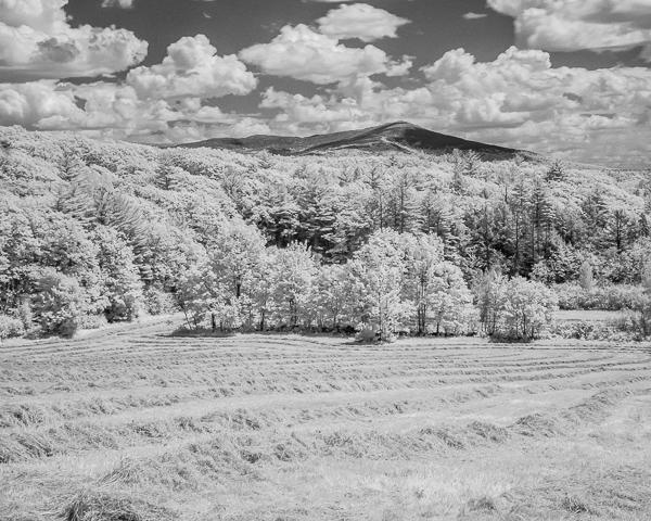 Mount Monadnock & Newly Mowed Hayfield (IR)
