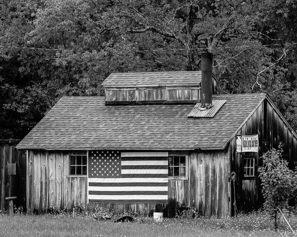 Sugarhouse with Flag (Windsor, NH)