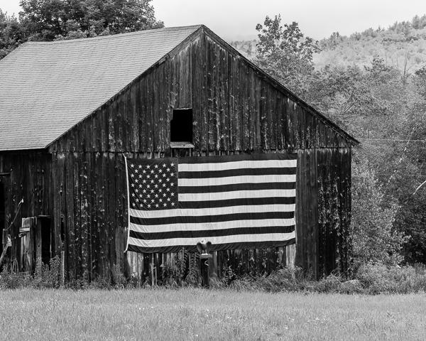 Barn with Flag (Windsor, NH)