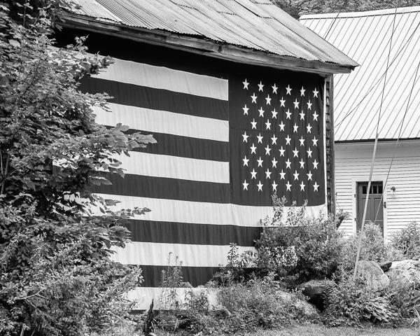 Barn with Flag (Goshen, NH)