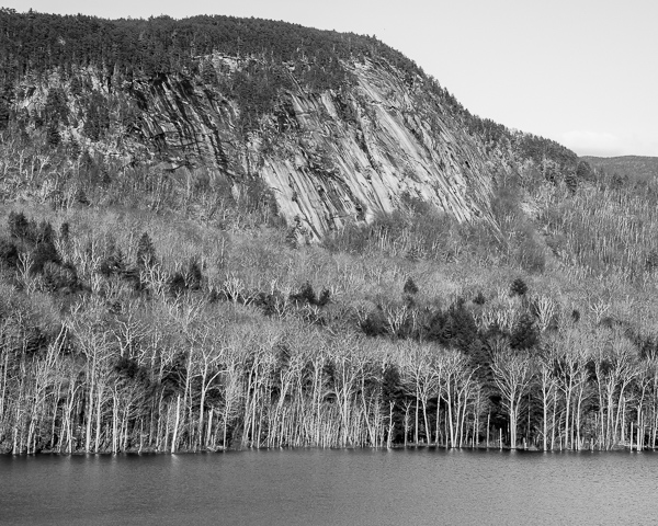 Owls Head Cliff above Oliverian Pond (Haverhill, NH)
