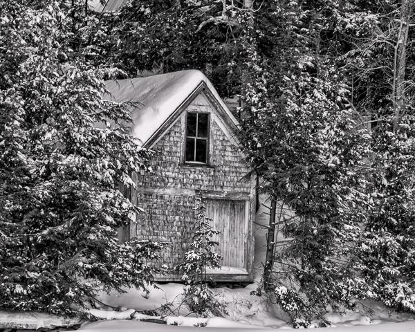 Boathouse in Winter
