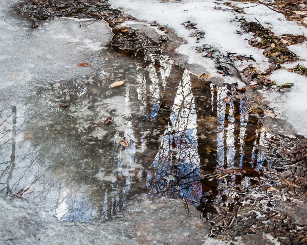 Puddle of Sky (the frozen version) #3