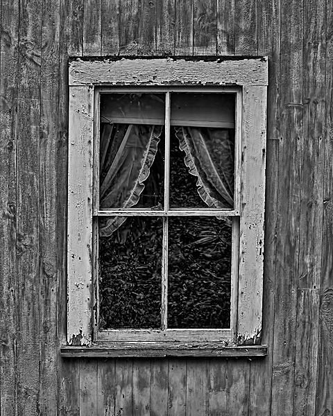 Lake-side Cabin Window