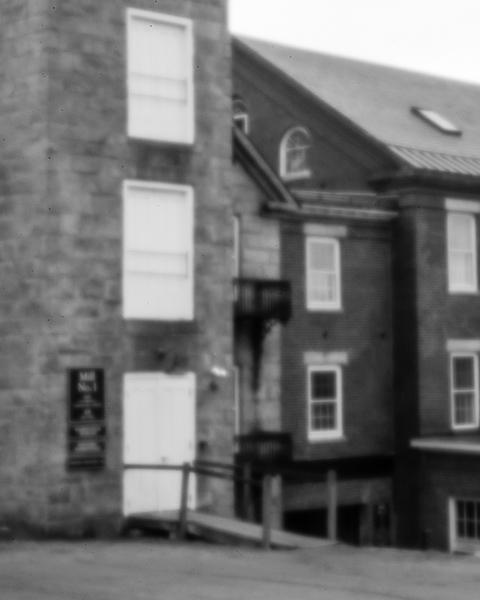 Harrisville Mill Detail #1 (pinhole photo)