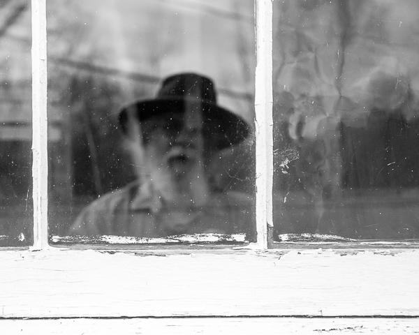 Self-portrait in Chapel Window