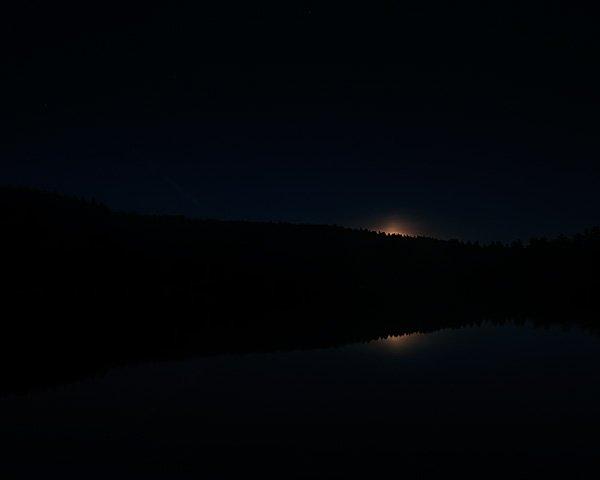 Moonrise at Gregg Lake (7:40 PM)