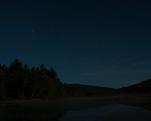 Big Dipper over the north end of Gregg Lake (9:30 PM)